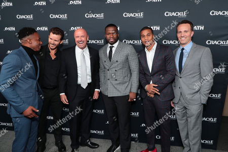 Arlen Escarpeta, Ryan Kwanten, Joe Halpin, Creator/Writer/Executive Producer, 50 Cent, Executive Producer, Cory Hardrict, Eric Berger, General Manager, Crackle, and Chief Digital Officer, Sony Pictures Television Networks,