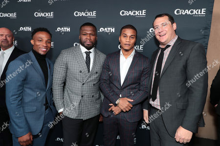 Arlen Escarpeta, 50 Cent, Executive Producer, Cory Hardrict, John Orlando, SVP of Programming and Development, Crackle,