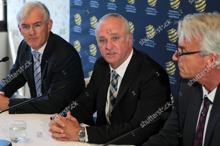 Steven Lowy, Graham Arnold and David Gallop