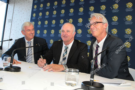 Stock Photo of Steven Lowy, Graham Arnold and David Gallop
