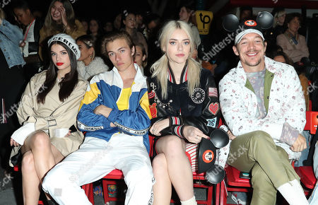 Sonia Ben Ammar, Diplo, Lucky Blue and Pyper America Smith in the Front Row