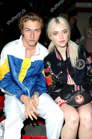 Lucky Blue Smith and Pyper America Smith in the Front Row