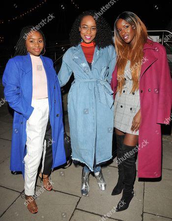 Tinea Taylor, Annaliese Dayes and Sarah Mulindwa