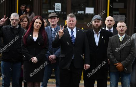Paul Golding and Jayda Fransen arrive at Folkstone Magistrates Court