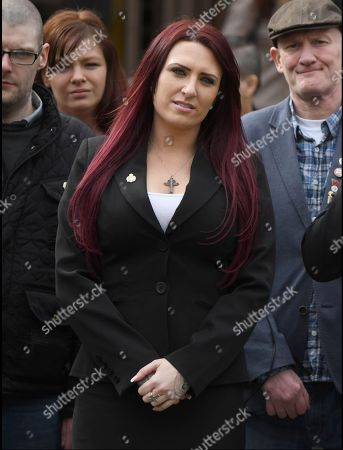 Jayda Fransen arrives at Folkstone Magistrates Court