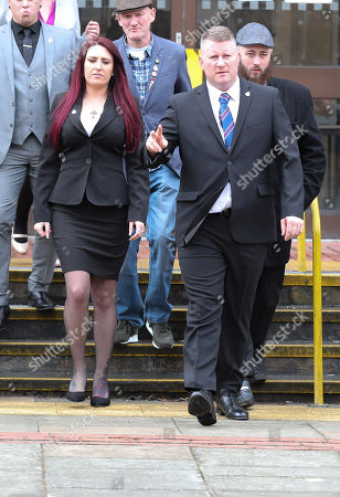 Stock Photo of Paul Golding and Jayda Fransen arrive at Folkstone Magistrates Court