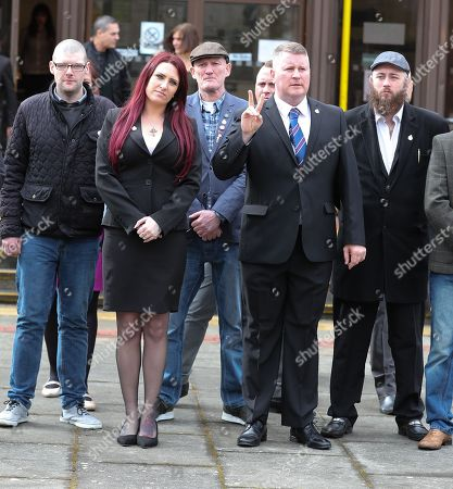 Stock Picture of Paul Golding and Jayda Fransen arrive at Folkstone Magistrates Court