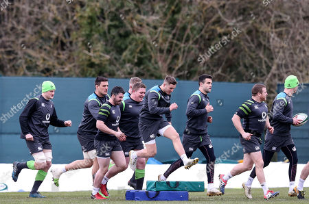 Jack O'Donoghue, Quinn Roux, Sam Arnold, Tadhg Furlong, Jordan Larmour, Conor Murray and Sean Cronin