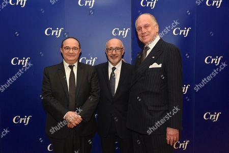 Ariel Goldmann, Francis Kalifat and Ronald Lauder