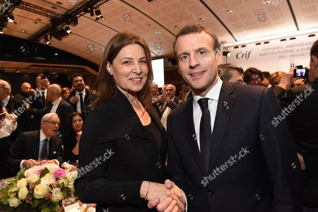 Emmanuel Macron and Aliza Bin-Noun