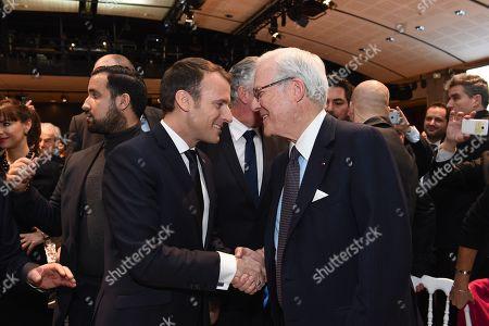 Emmanuel Macron and Baron Eric de Rothschild