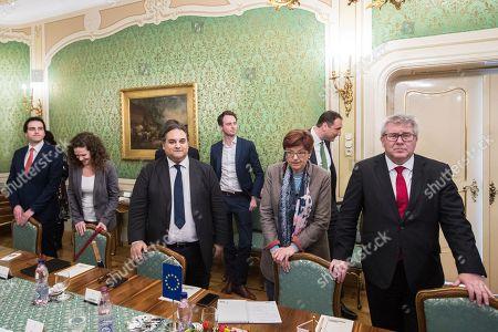 Marco Valli, Sophie in 't Veld, Claude Moraes, Ingeborg Graessle and Ryszard Czarnecki