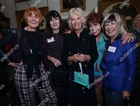 Stock Photo of (Left to right) Mary Portas, Catherine Mayer (co-founder of the Women's Equality Party), Camilla Duchess of Cornwall, Kathy Lette and Jude Kelly