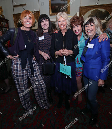 (Left to right) Mary Portas, Catherine Mayer (co-founder of the Women's Equality Party), Camilla Duchess of Cornwall, Kathy Lette and Jude Kelly