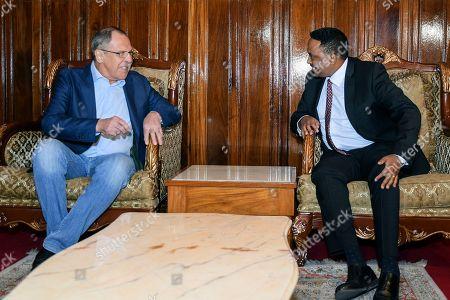 Sergei Lavrov and Workneh Gebeyehu