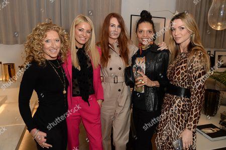Kelly Hoppen, Tess Daly, Angela Radcliffe, Efua Baker and Caroline Massenet