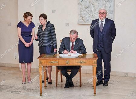 Elke Büdenbender, Eva Köhler, Horst Köhler, Frank-Walter Steinmeier