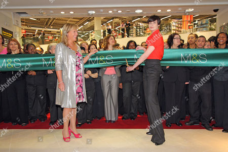 Erin O'connor And M&s Director Kate Bostock Unviel The Brand New Flagship Marks And Spencer Store In Colliers Wood