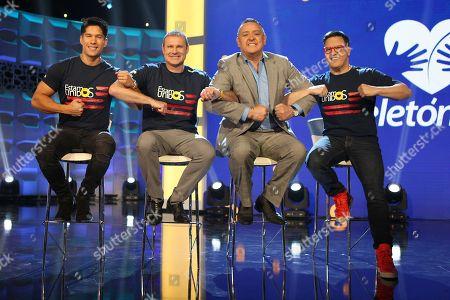 Chyno Miranda, Alan Tacher, Pablo Ramirez Gomez and Raul Gonzalez