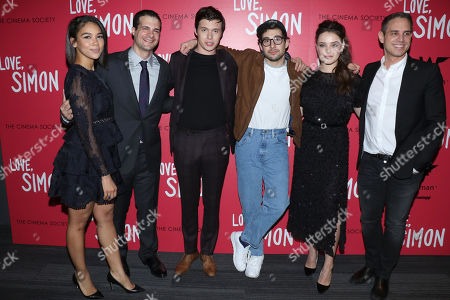 Alexandra Shipp, Pouya Shahbazian, producer, Nick Robinson, Jack Antonoff, soundtrack executive producer, Katherine Langford and Greg Berlanti, director