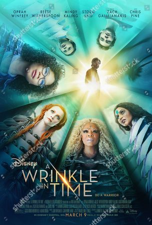 A Wrinkle in Time (2018) Poster Art. Storm Reid, Deric McCabe, Levi Miller, Chris Pine, Mindy Kaling, Oprah Winfrey, Reese Witherspoon