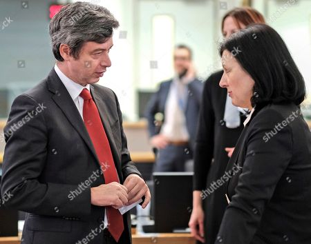 Andrea Orlando and Vera Jourova