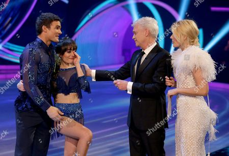 Max Evans and Ale Izquierdo with Phillip Schofield and Holly Willoughby