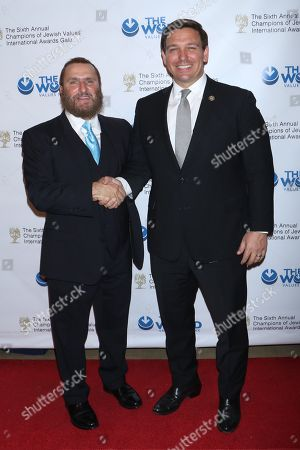 Rabbi Shmuley Boteach, founder and Executive Director of the World Values Network and Ron DeSantis, US Congressman Florida's 6th District