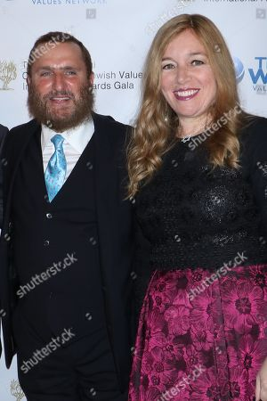Rabbi Shmuley Boteach, founder and Executive Director of the World Values Network and wife Debbie Boteach