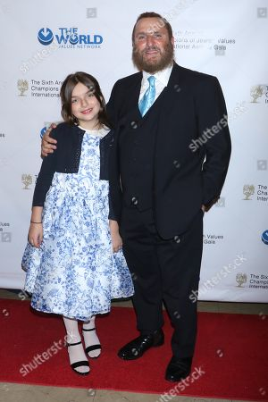Rabbi Shmuley Boteach, founder and Executive Director of the World Values Network with his daughter Cheftziba