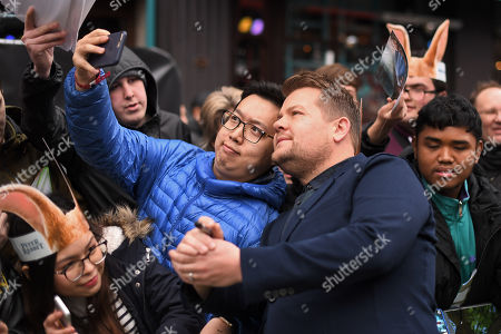 James Corden and fans