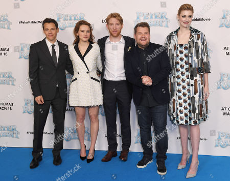 Will Gluck, Daisy Ridley, Domhnall Gleeson, James Corden and Elizabeth Debicki