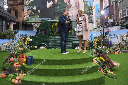 James Corden and Jenni Falconer