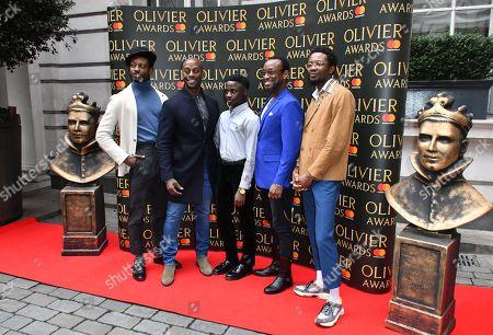 Stock Image of (L-R) Dex Lee, Horace Oliver, Omari Douglas, Ian Carlyle, Idriss Kargbo
