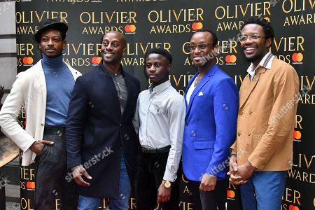 (L-R) Dex Lee, Horace Oliver, Omari Douglas, Ian Carlyle, Idriss Kargbo