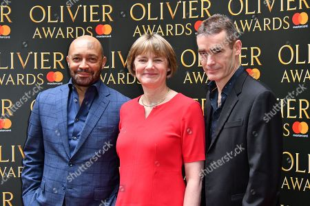 Stock Picture of (L-R) Damon Buffini, Lisa Burger, Rufus Norris