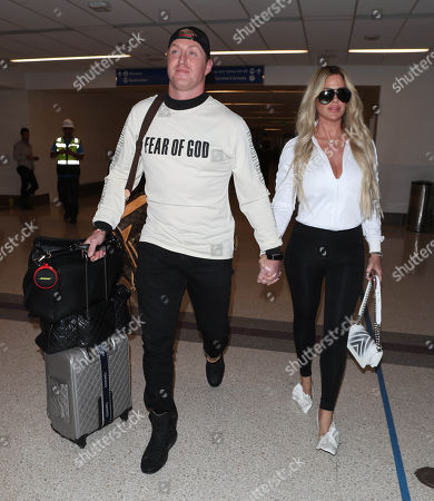 Editorial photo of Kim Zolciak at LAX International Airport, Los Angeles, USA - 08 Mar 2018