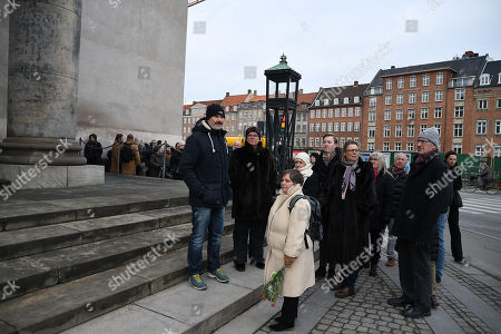 People stand out side the Christiansborg Castle Church to say last farewell to Prince Henrik who passed away on the 13th of febuary 2018