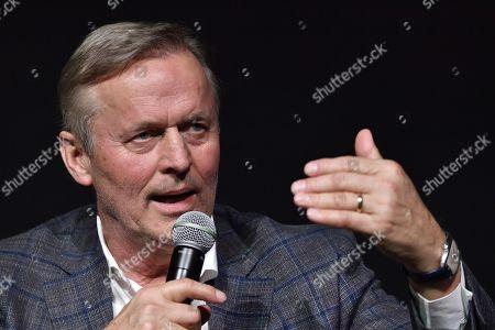 US writer John Grisham attends to a meeting as part of 'Tempo di Libri', an International Book Fair in Milan, Italy, 09 March 2018.