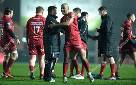 Tom Varndell of Scarlets at the end of the game.