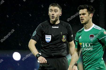 Dundalk vs Cork City. Referee Paul McLoughlin