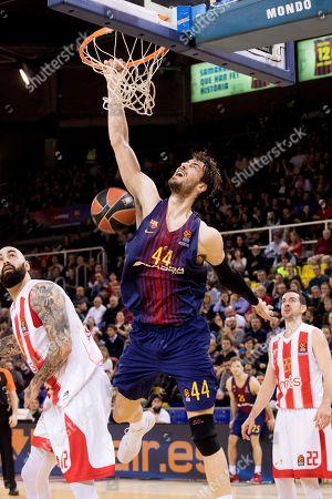 Editorial picture of Barcelona Lassa vs Red Star Belgrade, Spain - 09 Mar 2018