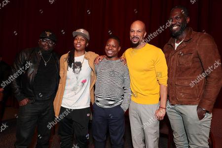 Lil Rel Howery, Moderator, Lena Waithe, Creator/Writer/Executive Producer, Jason Mitchell, Common, Actor/Executive Producer, and Rick Famuyiwa, Director/Executive Producer,