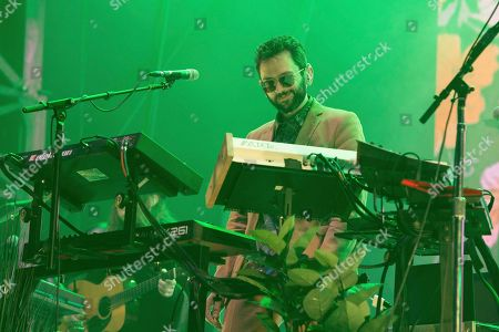 Stock Photo of Benjamin Goldwasser of MGMT performs at the 2018 BUKU Music + Art Project at Mardi Gras World, in New Orleans