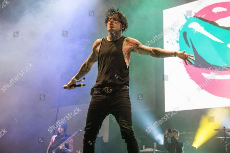 Ronnie Radke of Falling In Reverse performs at the 2018 BUKU Music + Art Project at Mardi Gras World, in New Orleans
