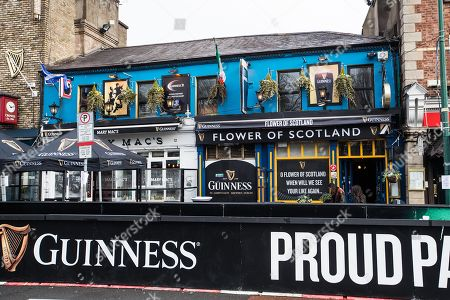 Editorial picture of Paddy Cullen's Pub Becomes ?Flower of Scotland? To Welcome Scottish Fans Ahead Of The Ireland v Scotland Game, Dublin  - 10 Mar 2018