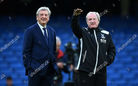 Roy Hodgson manager of Crystal Palace and his assistant Ray Lewington