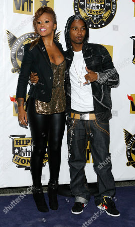Eve, Juelz Santana. Eve, left, and Juelz Santana arrive at the 2008 VH1 Hip Hop Honors show in New York. Airport police are searching for rapper Juelz Santana after a gun was found in a carry-on bag containing his identification at Newark Liberty International Airport