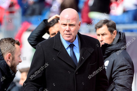 New England Revolution head coach Brad Friedel stands in the bench area during the MLS game between Colorado Rapids and the New England Revolution held at Gillette Stadium in Foxborough Massachusetts