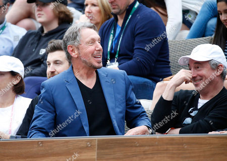 Larry Ellison in attendance during the match between Serena Williams and Kiki Bertens (NED) during the BNP Paribas Open at the Indian Wells Tennis Garden in Indian Wells, CA